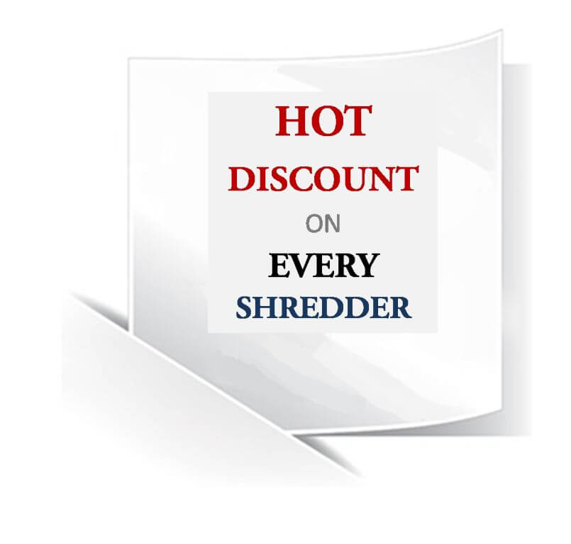 Hot Discount Paper Shredder Banner